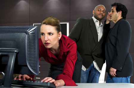 office sexual harassment Stock Photo