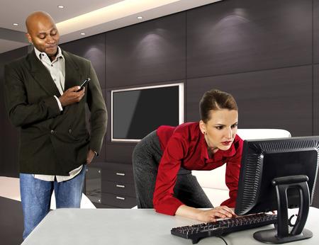 Office Harassment 版權商用圖片 - 25797005