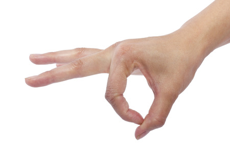 verb: close up of female human hand flicking for composites