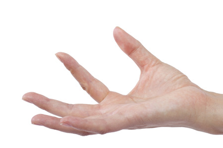 flicking: close up of female human hand flicking for composites