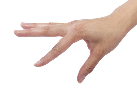 close up of female human hand flicking for composites photo