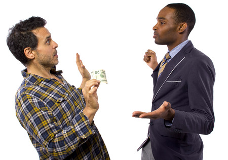 sneaky man stealing cash from a victim Stock Photo - 27145156