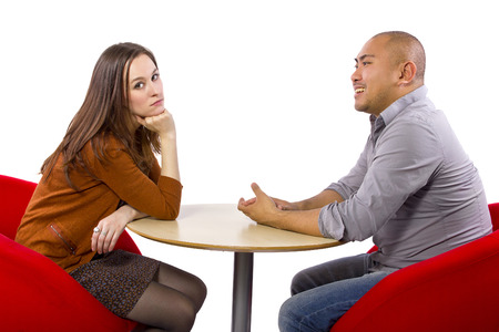 talkative: Interracial date that is boring and un-romantic