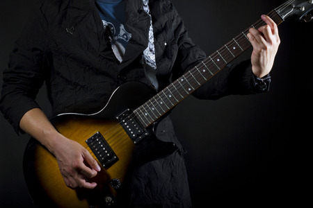close up of guitar lessons  showing chords  photo