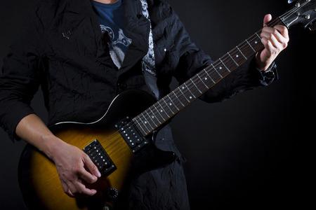 코드를 보여주는 기타 레슨의 닫습니다 스톡 콘텐츠 - 27497511
