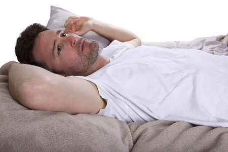 obudził: bliska detektywa nie mogąc spać w łóżku