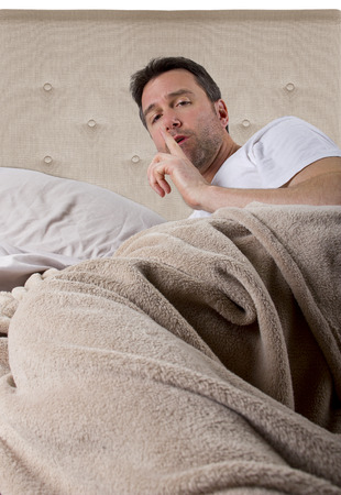 unable: man unable to sleep because of loud noise