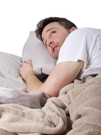 loud noise: man unable to sleep because of loud noise