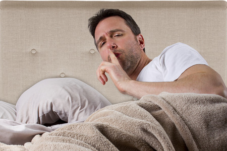 loud: man unable to sleep because of loud noise