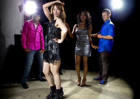seeker: cool people dancing in a nightclub or bar lounge