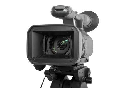 Productie camera op een statief en geïsoleerd op een witte achtergrond Stockfoto - 30471116