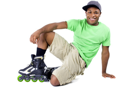 young adult black man posing