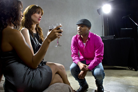 soliciting: pickup artists harrassing women at a nightclub