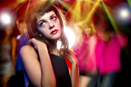 loner: Disheveled drunk or female high on drugs at a nightclub