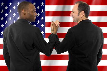 hetzelfde geslacht homostel wettelijk getrouwd in de Verenigde Staten van Amerika Stockfoto