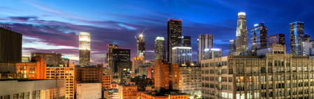 usa cityscape: Historic Core and Financial District of Downtown Los Angeles