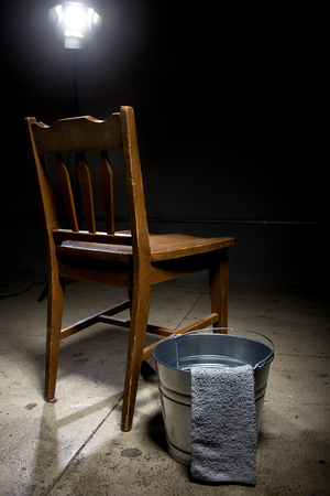 guantanamo: Torture chamber with a water bucket for controversial waterboarding