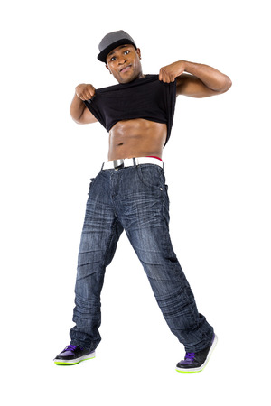weightloss: Hip Hop choreography teacher showing body weightloss results from dance exercise