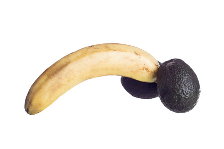 educacion sexual: analog�a fruto de un genital masculino para la educaci�n sexual editorial ilustrativos Foto de archivo