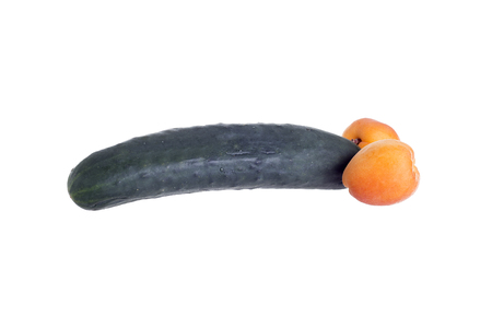educacion sexual: analogía fruto de un genital masculino para la educación sexual editorial ilustrativos Foto de archivo