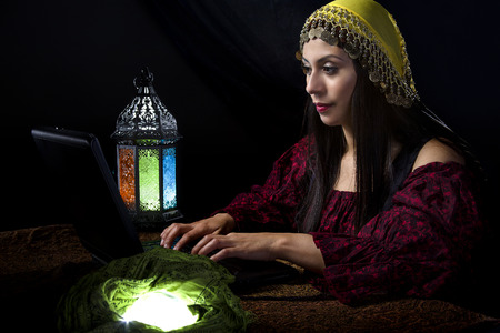 astrologist: Fortune Teller blogging about her predictions with a computer online