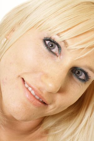 blonde close up: blue-eyed blonde close up