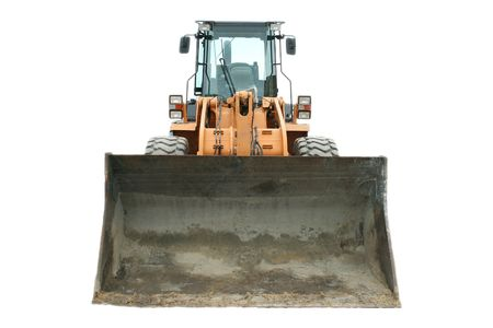 frontend: front loader isolated on white Stock Photo