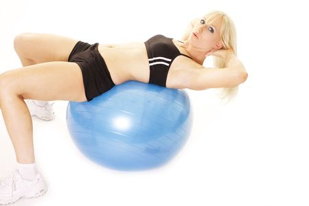 prone: prone on an exercising ball