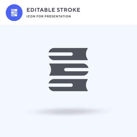 Books icon vector, filled flat sign, solid pictogram isolated on white, logo illustration. Books icon for presentation. Ilustração