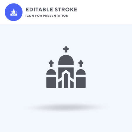 Sacre Coeur icon vector, filled flat sign, solid pictogram isolated on white, logo illustration. Sacre Coeur icon for presentation.
