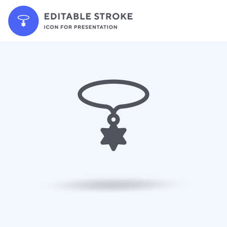 Necklace icon vector, filled flat sign, solid pictogram isolated on white, logo illustration. Necklace icon for presentation. Ilustracja