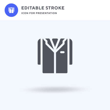 Lab Coat icon vector, filled flat sign, solid pictogram isolated on white, logo illustration. Lab Coat icon for presentation. Illustration