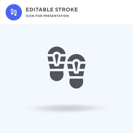 Shoe Prints icon vector, filled flat sign, solid pictogram isolated on white, logo illustration. Shoe Prints icon for presentation. Illustration