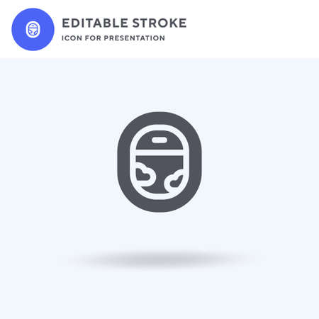 Porthole icon vector, filled flat sign, solid pictogram isolated on white, logo illustration. Porthole icon for presentation.