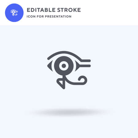 Eye Of Ra icon vector, filled flat sign, solid pictogram isolated on white, logo illustration. Eye Of Ra icon for presentation.