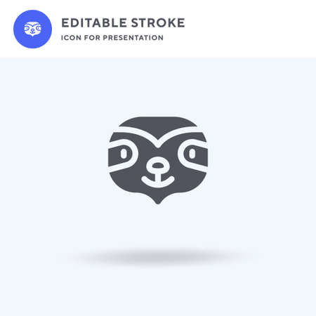 Sloth icon vector, filled flat sign, solid pictogram isolated on white, illustration. Sloth icon for presentation.