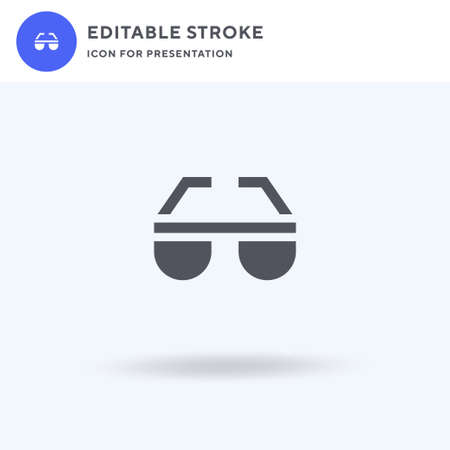Sunglasses icon vector, filled flat sign, solid pictogram isolated on white, logo illustration. Sunglasses icon for presentation.