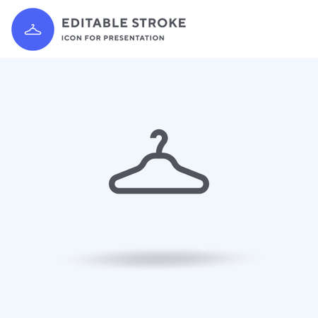 Clothes Hanger icon vector, filled flat sign, solid pictogram isolated on white, logo illustration. Clothes Hanger icon for presentation. Ilustração