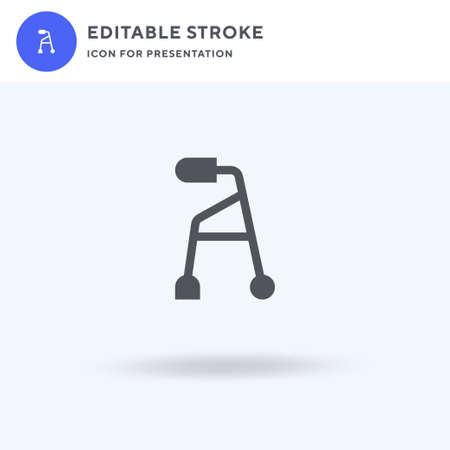 Baby Walker icon vector, filled flat sign, solid pictogram isolated on white, logo illustration. Baby Walker icon for presentation.