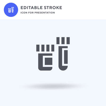 Test Tubes icon vector, filled flat sign, solid pictogram isolated on white, logo illustration. Test Tubes icon for presentation. Иллюстрация