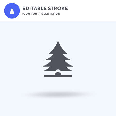 Pine icon vector, filled flat sign, solid pictogram isolated on white, logo illustration. Pine icon for presentation. Ilustração