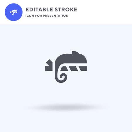 Chameleon icon vector, filled flat sign, solid pictogram isolated on white, logo illustration. Chameleon icon for presentation. Stock Illustratie