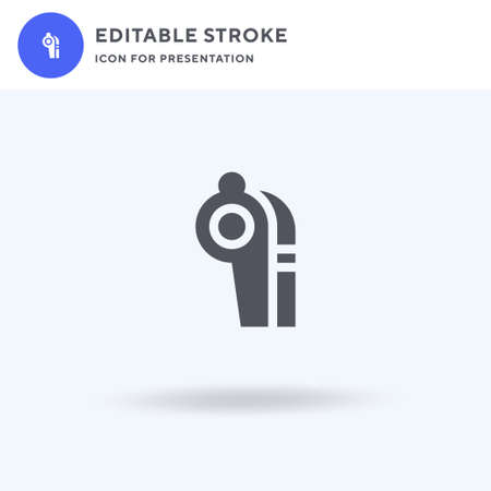 Whistle icon vector, filled flat sign, solid pictogram isolated on white, logo illustration. Whistle icon for presentation. 일러스트