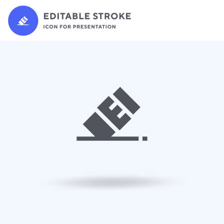 Eraser icon vector, filled flat sign, solid pictogram isolated on white, logo illustration. Eraser icon for presentation.