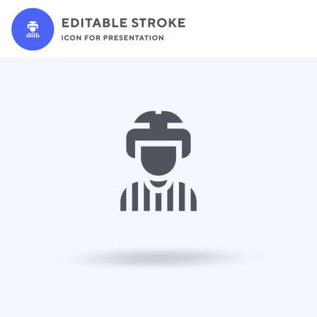 Referee icon vector, filled flat sign, solid pictogram isolated on white  illustration. Referee icon for presentation.