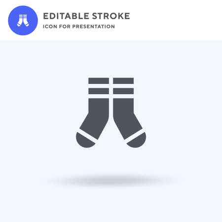 Socks icon vector, filled flat sign, solid pictogram isolated on white  illustration. Socks icon for presentation.