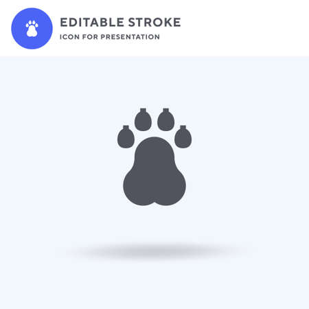 Pawprints icon vector, filled flat sign, solid pictogram isolated on white, logo illustration. Pawprints icon for presentation.
