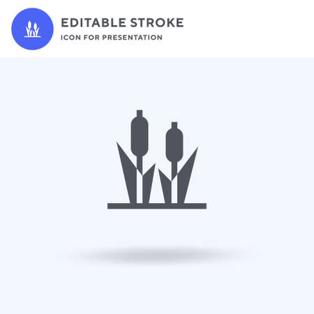 Cattail icon vector, filled flat sign, solid pictogram isolated on white, logo illustration. Cattail icon for presentation.