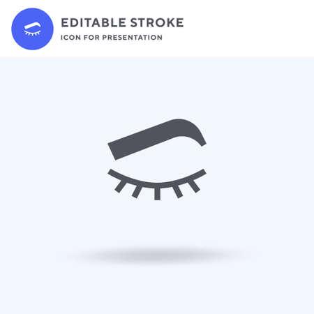 Eyelashes icon vector, filled flat sign, solid pictogram isolated on white, logo illustration. Eyelashes icon for presentation.