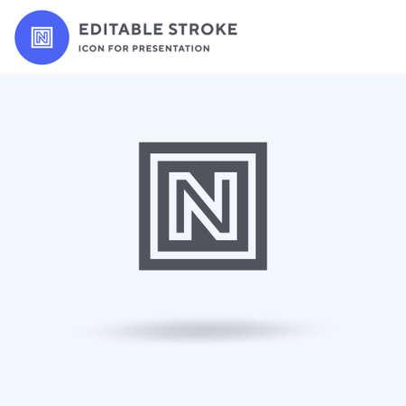 Novice icon vector, filled flat sign, solid pictogram isolated on white, logo illustration. Novice icon for presentation. Ilustração
